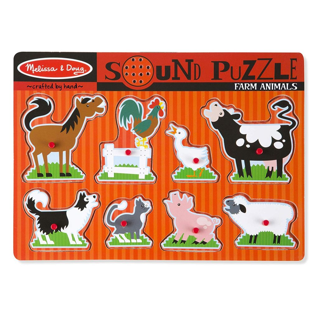 Melissa & Doug farm animals puzzle for non verbal autism