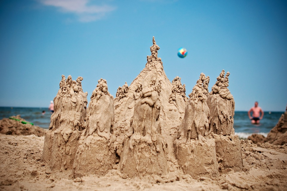 sand castle--diy homemade toys for autism