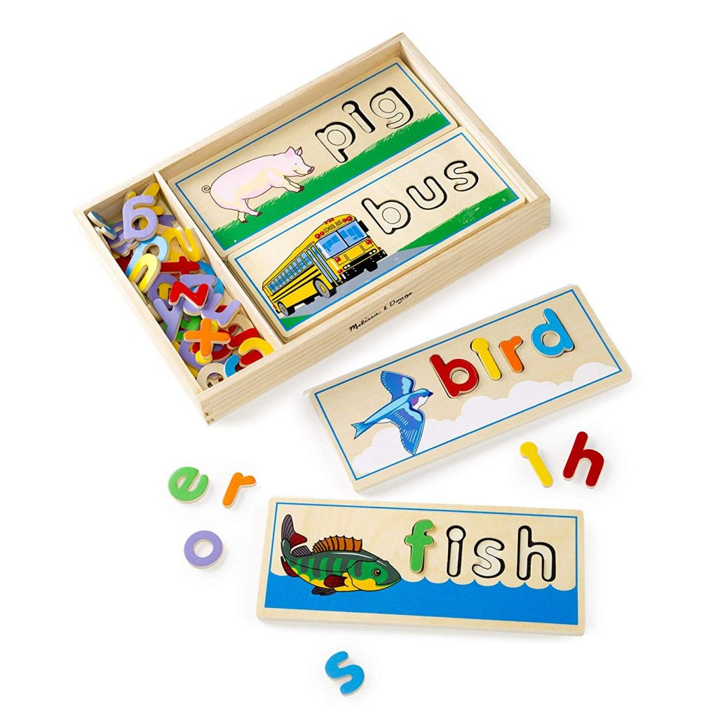 see and spell game by Melissa &Doug