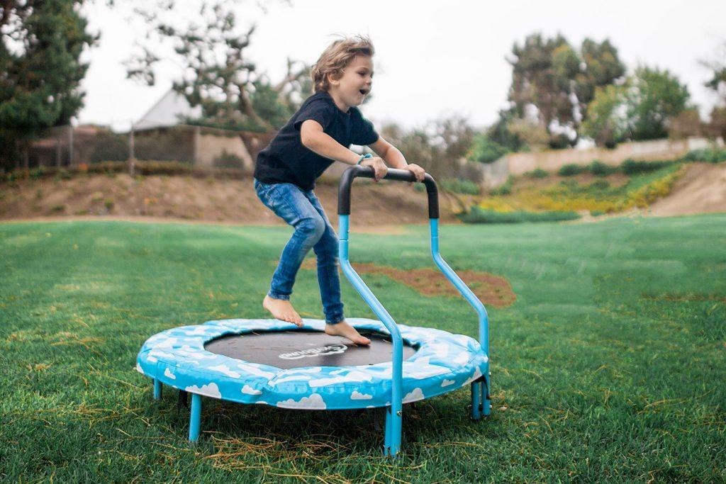 mini trampoline activities for autistic kids