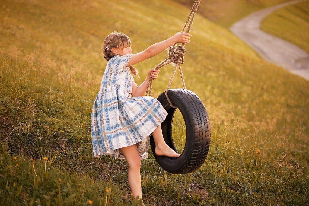 tire swing for sensory seeking climbers