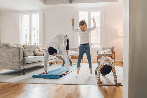 exercising with children