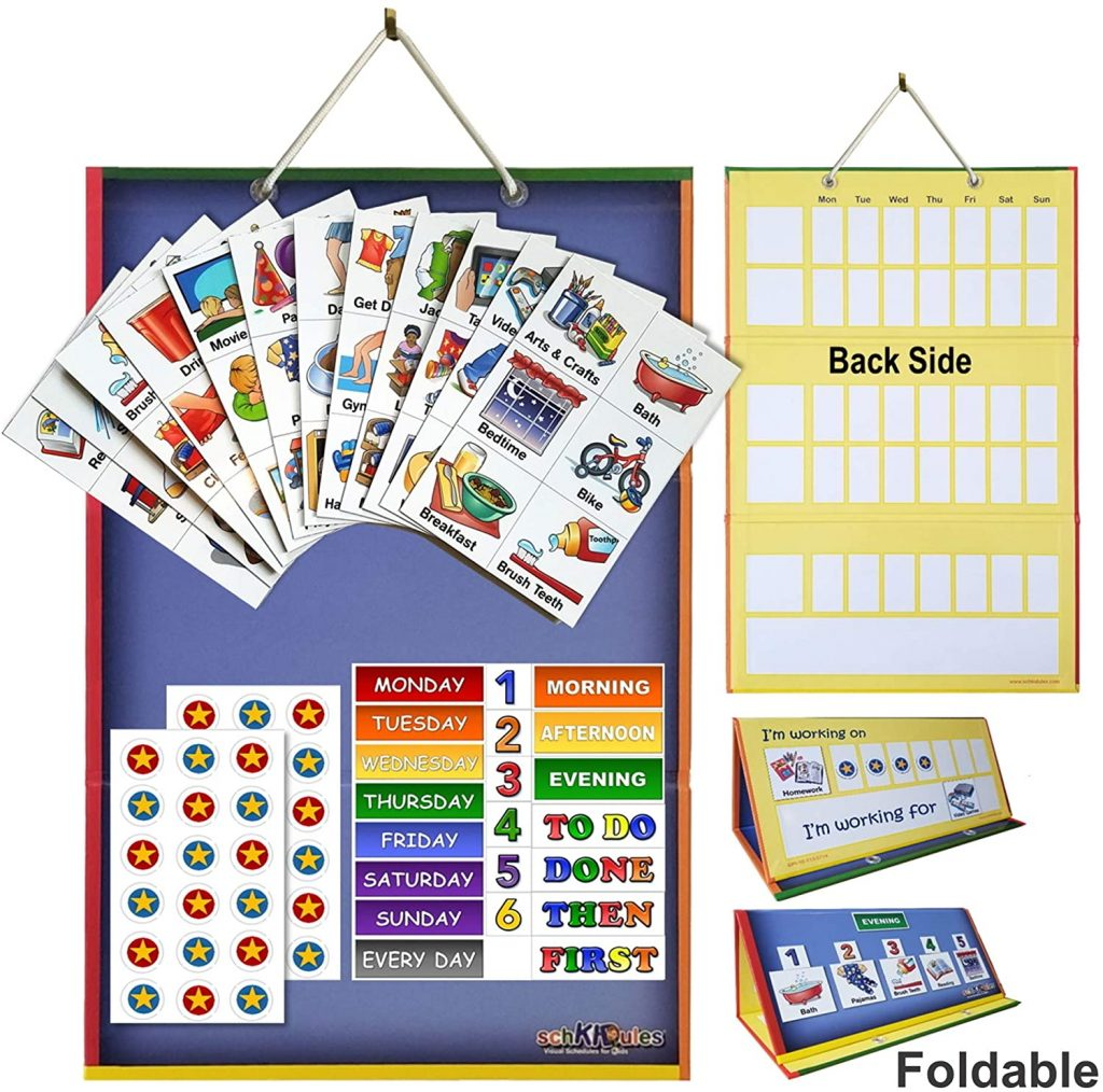 visual schedule planner for autistic kids