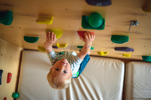 install climbing holds in your house
